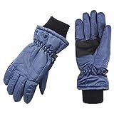 Wantdo Men's Winter Ski Gloves Windproof Insulation Fleece Lining Outdoor Snow Gloves