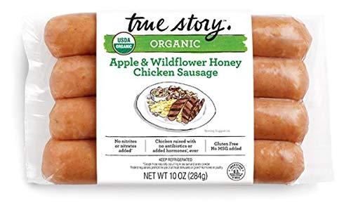 True Story Apple & Wildflower Honey Chicken Sausage 10 Oz (4 Pack)