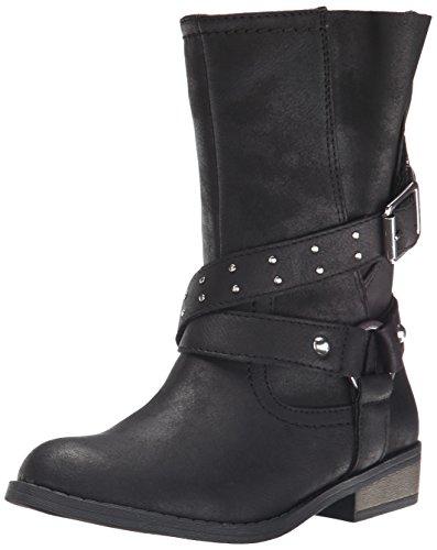 Jessica Simpson Callie Moto Boot (Little Kid/Big Kid), Black, 2 M US Little Kid