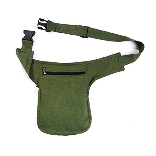 Kunst und Magie - Bolso al hombro de algodón para mujer ca. 28 x 18 x 4 cm Verde