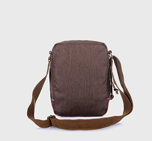 Sucastle Retro Tasche lässig Tasche Schultertasche Messenger Bag Tragetasche Sucastle Farbe: Braun Größe: 27x21x10cm