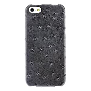Fake Ostrich Pattern Flip Case with Interior Flocking Protection for iPhone 5/5S (Optional Colors) --- COLOR:Blue