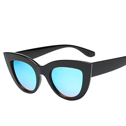 Mujer de E Mujer Ojo de Retro de Logobeing Gafas de Sol Eyewear Vintage Sol Gato Vintage Gafas qwHntR8