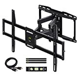 USX MOUNT Full Motion TV Wall Mount Bracket Dual Swivel Articulating Tilt 6 Arms for Most 37-75 inch Flat Screen, LED, 4K TVs, with Max VESA 600x400mm and Fits 12' 16' Studs