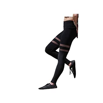 LIYANH Pantalones de Yoga, Malla de Costura, Pantalones de ...