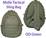 Tactical Sling Bag Backpack OD Green Color, Outdoor Stuffs
