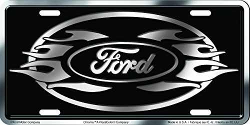 Chroma 001960 Brushed Aluminum 'Ford' Metal Tag License Plate