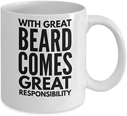 Amazon.com: TAZAS DE Barba para los hombres – con gran comes ...