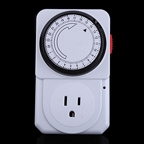 Price comparison product image UEB 24 Hours Electrical Energy-saving Programmable Timer Plug Switch Socket US