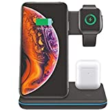 RONSHIN 3 in 1 Universal 15W Qi Wireless Charger for Iphone X 8 Xiaomi Quick Charge 3.0 Fast Charger Dock Stand for…