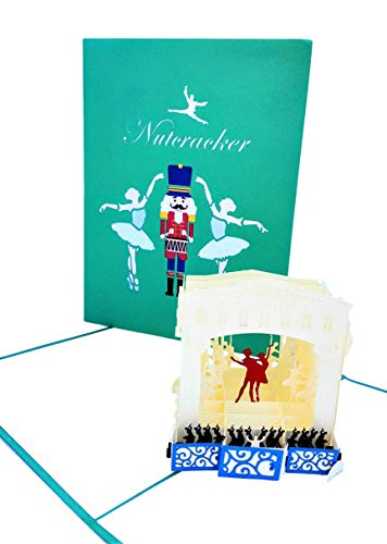 iGifts And Cards Elegant Nutcracker 3D Pop Up Greeting Card - Ballet, Beautiful, Inspirational, Music, Teamwork, Half-Fold, Christmas, Seasons Greetings, Thank You, All Occasion, Holiday Tradition ()