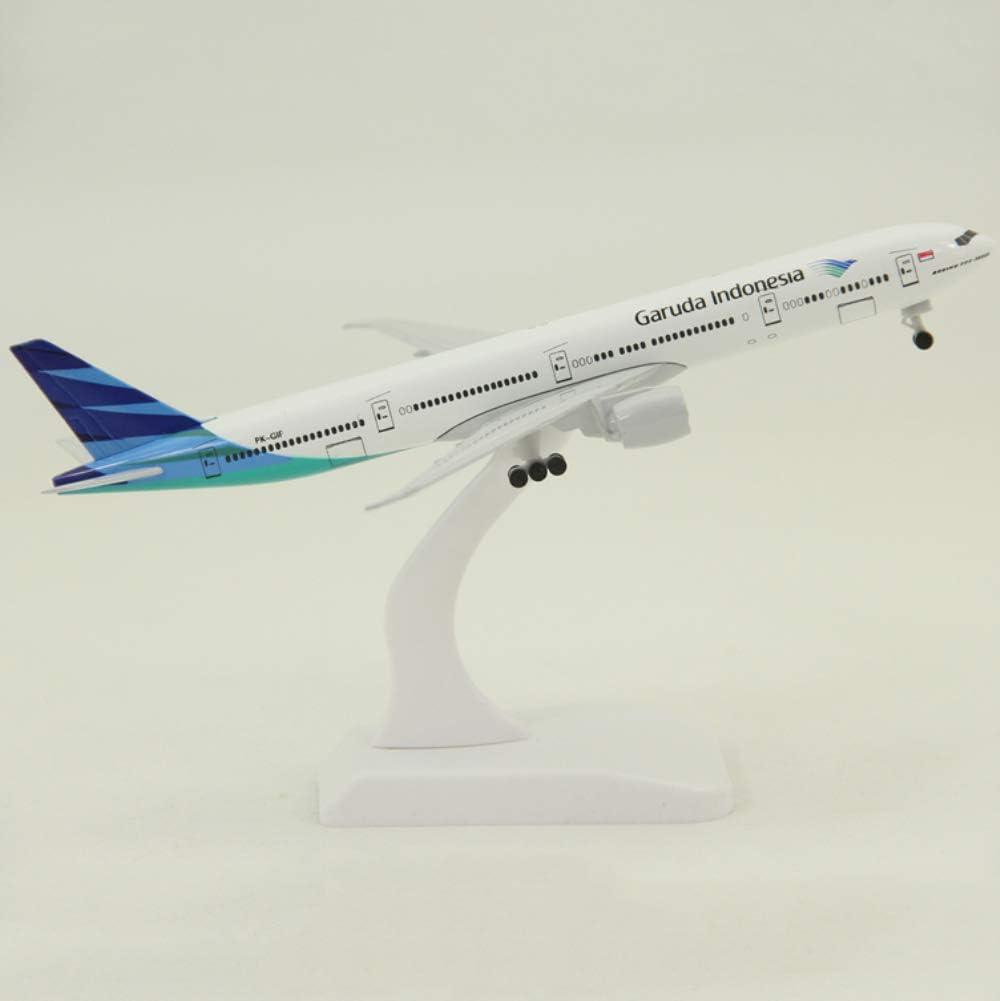 NUOLANDE Diecast Airplane Modell Kit 20cm Legierung Flugzeug Modell Garuda B777 Airliner f/ür Geschenk oder Dekoration