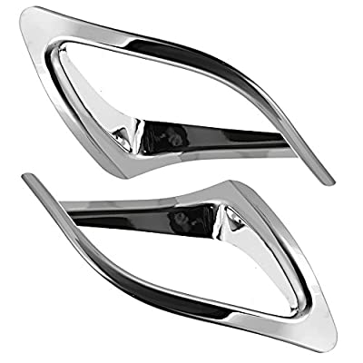 Rear Bumper Fog Light Lamp Cover Trim for Toyota Highlander 2014 2015 2016 2020 2020 Chrome Plated ABS Pair: Automotive