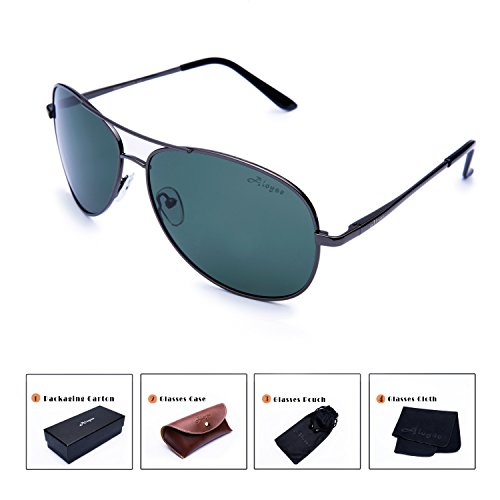 Aloyse Polarized Aviator Sunglasses For Men Women Metal Frame UV Protection Sun - Protection The As Same Uv Polarized Is
