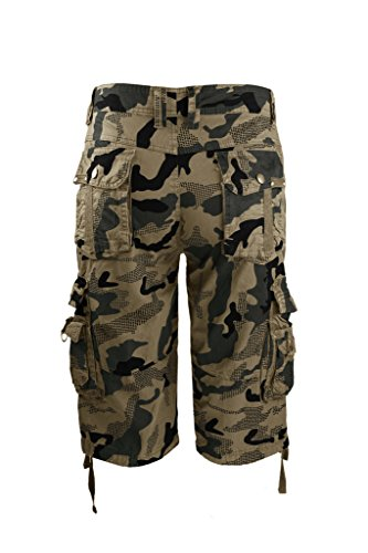 03bed049c4 high-quality Lee Hanton Men's Military Outdoor Camouflage Work Twill Cargo  Shorts W/Belt. 100% cotton ...