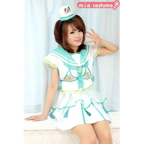 [Cosplay] Momoiro Clover Z coconut costume [green] also (BIG size) coconut costumes black Z thigh black Z Momokuro Z Ariyasu Kyoka green (japan import) - Mia Costume Japan