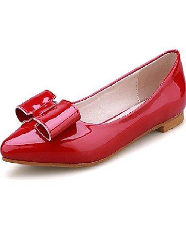 de charol al libre us5 tacones de PDX red uk3 Toe eu35 carrera cn34 comodidad pisos zapatos plano y oficina señaló aire mujer talón SqEwIxCw7