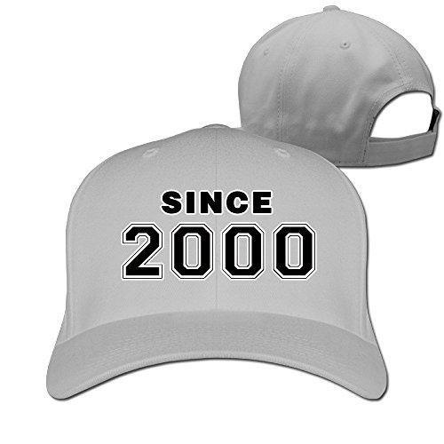 Men Since 2000 16th Birthday Gift Adjustable Baseball Caps -