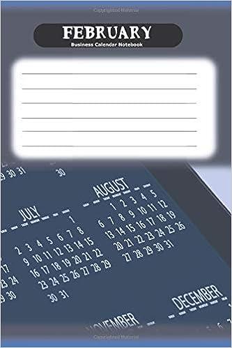 February Business Calendar Notebook: Business Calendar Blank