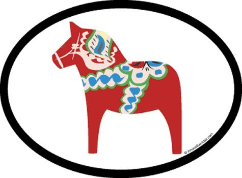 - Flag It Dala Horse Oval Decal for auto, Truck or Boat
