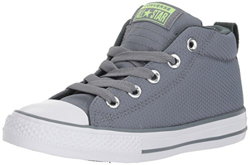 Converse Boys' Chuck Taylor All Star Street Sneaker, Stone/Brick, 5 M US Big Kid -