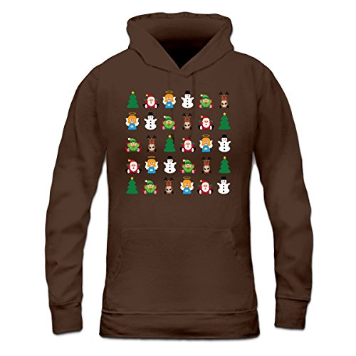 Sudadera con capucha de mujer Christmas All Together by Shirtcity Marrón