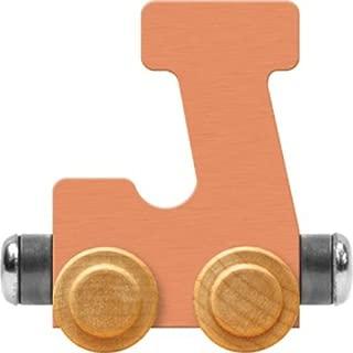 product image for Maple Landmark NameTrain Pastel Letter Car J - Made in USA (Orange)
