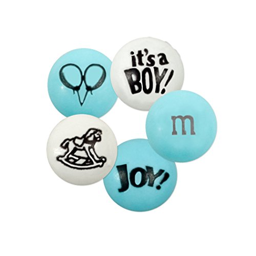 It's a Baby Boy M&M'S Milk Chocolate Candies - 2lb Bag, Approx 1,000 Pieces ()