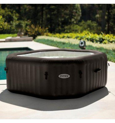 INTEX SPA Hinchable Pure SPA chorros 6 plazas Octogonal 2,16 ...