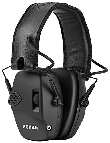 ZOHAN EM054 Electronic Shooting Ear Protection Muff | Slim Electronic Earmuff with Sound Amplification Noise Reduction | Perfect for Hunting & Shooting Range