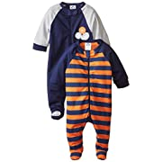 Gerber Baby Boys' 2 Pack Zip Front Sleep 'N Play, Sports, 6-9 Months