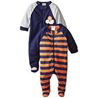Gerber Baby Boys' 2 Pack Zip Front Sleep 'N Play, Sports, 3-6 Months