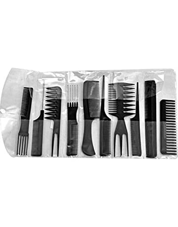 10X Peigne Peine comb cepillo plástico de peluquería