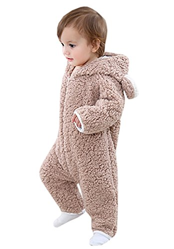 Bear Suits For Babies (Taoliyuan Baby Girls Boys' Bear Style Jumpsuit Autumn&Winter Hooded Romper Clothing)