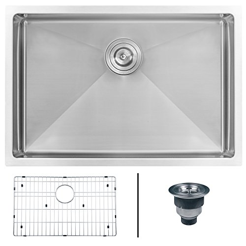 Ruvati 26-inch Undermount 16 Gauge Tight Radius Stainless Steel Kitchen Sink Single Bowl - RVH7126 ()