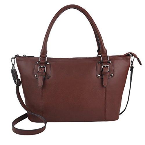 Handbags for Women, ZMSnow Designer Classic Crossbody Bags for Women Girls(Coffee)