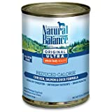 Natural Balance Pet Food Reduced Calorie Formula Dog Food — 13 oz For Sale