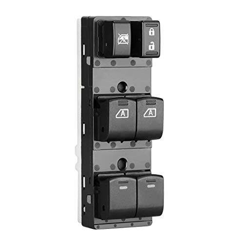 Nissan Altima Window Switch - Master Power Window Switch 25401-ZN50B Fits 2007-2012 Nissan Altima 4 Door Front with Auto Down Feature | Front Left Driver Side Control Switch