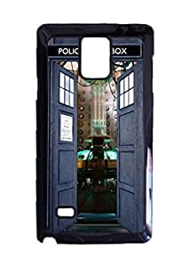 Engood Design Doctor Who TARDIS Opening Door Case Durable Unique Design Hard Back Case Cover For Samsung Galaxy Note 4 New