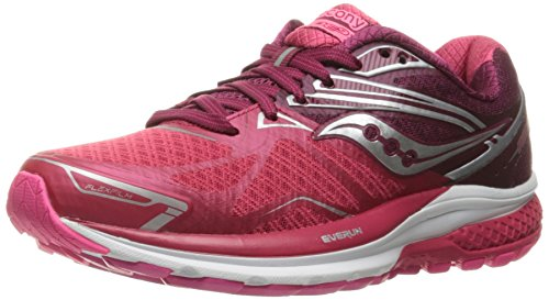 Saucony Women's Ride 9 Running Shoe, Pink/Berry, 7 M US