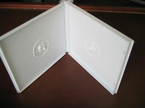 Poly Case - WHITE DOUBLE POLY CD/DVD CASE W/SLEEVE, PSC32 100 PCS