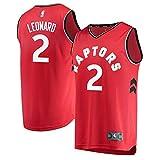 adasd5sas Men's Toronto #2 Leonard Red Fast Break Replica Jersey