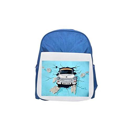 Graffiti, Berlin Wall, Wall, Trabi, Auto Printed Kid 's Blue Backpack, Cute de mochilas, Cute Small de mochilas, Cute Black Backpack, Cool Black Backpack, Fashion de mochilas, large Fashion de mochilas, Black