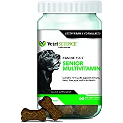 VetriScience Laboratories-Canine Plus Senior, Multivitamin for Older dogs-60 Bite Sized Soft Chews