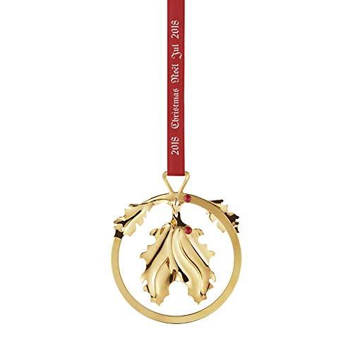 (Georg Jensen Anniversary Special Edition Christmas Ornament 1987-2018, Gold Plated)
