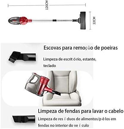 Aspirateur balai Aspirateur sans fil, bâton Aspirateur, Nettoyage puissant 10kPa Lightweight 2 en 1 poche à vide avec la batterie rechargeable au lithium-ion