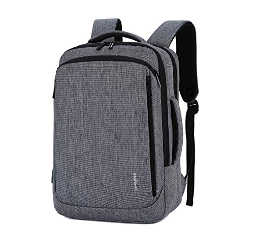 Unisex Convertible Laptop Brifcase Backpack Fits Laptop up to 15.6 Made of Water Resistant Nylon (Grey)