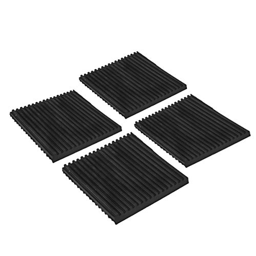 Air Jade 4 Pack Rubber Anti-Vibration Pads,Heavy Duty All-Rubber Vibration Isolation Mats for HVAC,Washers, Compressors,Treadmills,Air Conditioner Units (4