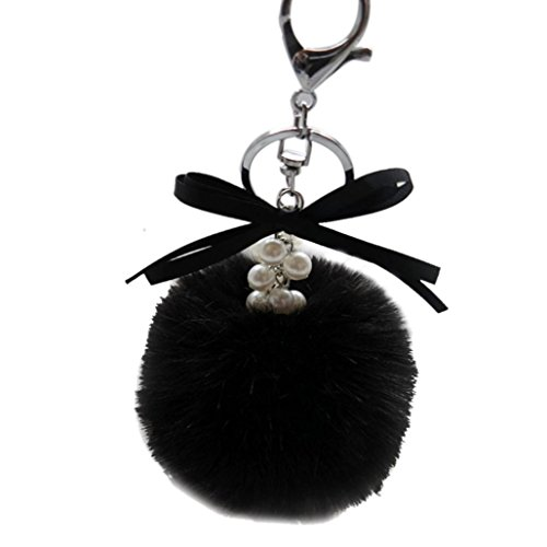 bestpriceam-new-real-fox-fur-ball-with-inlay-pearl-rhinestone-key-chain-for-womens-bag-or-cellphone-