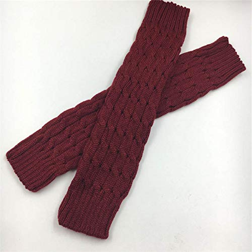 Gold Happy Women Ladies Winter Spring Knit Crochet Leg Warmers Boots Knee Trim Boot Legging Warmer Solid Color Body Warmer ()